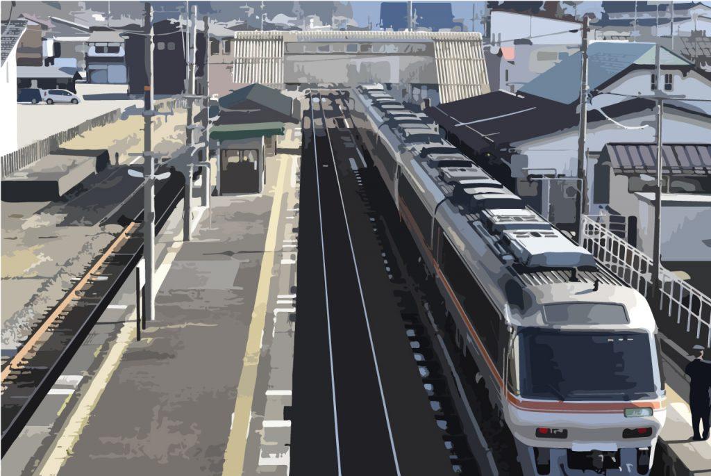 飛騨古川駅 君の名は シーン 画像トレース
