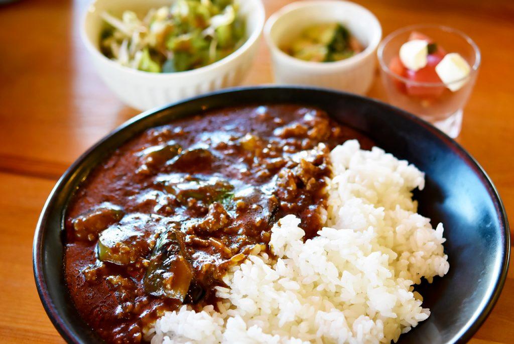 ひき肉と茄子ピリ辛カレー