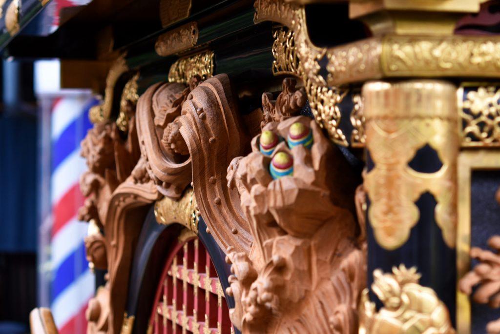 屋台の装飾
