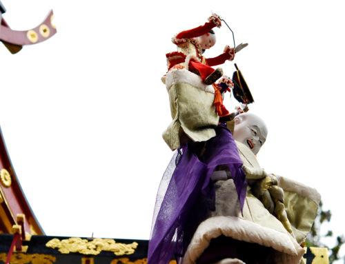 秋の高山祭(八幡祭)の様子